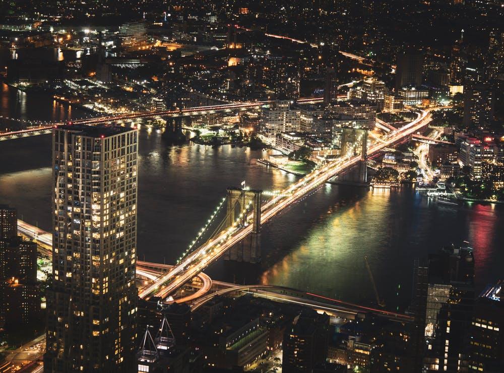 Brooklyn, NY at night