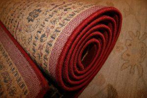 rolled rug