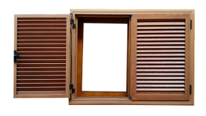 Opened window is sometimes the best entrance when handling robust furniture when moving
