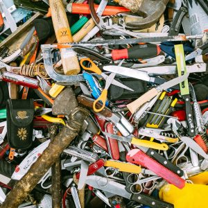 a pile of tools