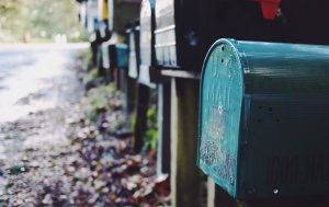 -mailbox with mail