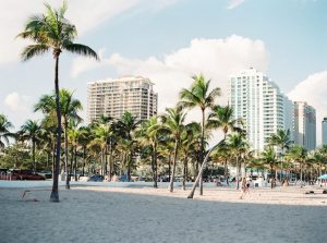 View of Miami from the beach.
