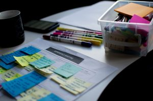 schedule and crayons