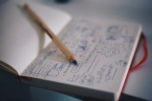 A plan written in a notebook.