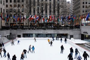 Popular ice rink during Christmas in NYC