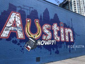 Grafitti that says Austin.
