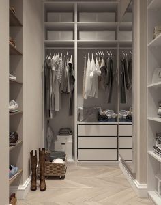 A walk-in closet - Benefits of life in the suburbs outside NYC