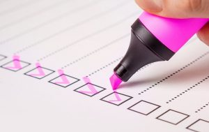inventory list can help you to avoid unpacking mistakes