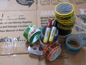 tapes to help you learn what to pack in large moving boxes