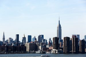 view of NYC skyline from Jersey City