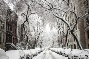 Moving from Brooklyn to Newark - snowy street in NYC