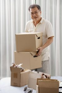 man with a moving box