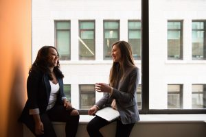 Two women talking about how to find affordable storage in Brooklyn.