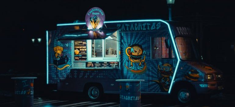 a food truck in the night - best food trucks in NYC