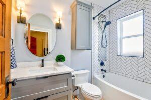 clean remodeled bathroom