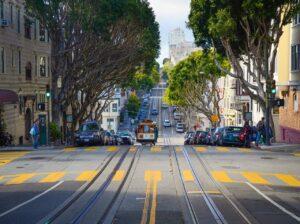 trolleys in San Francisco